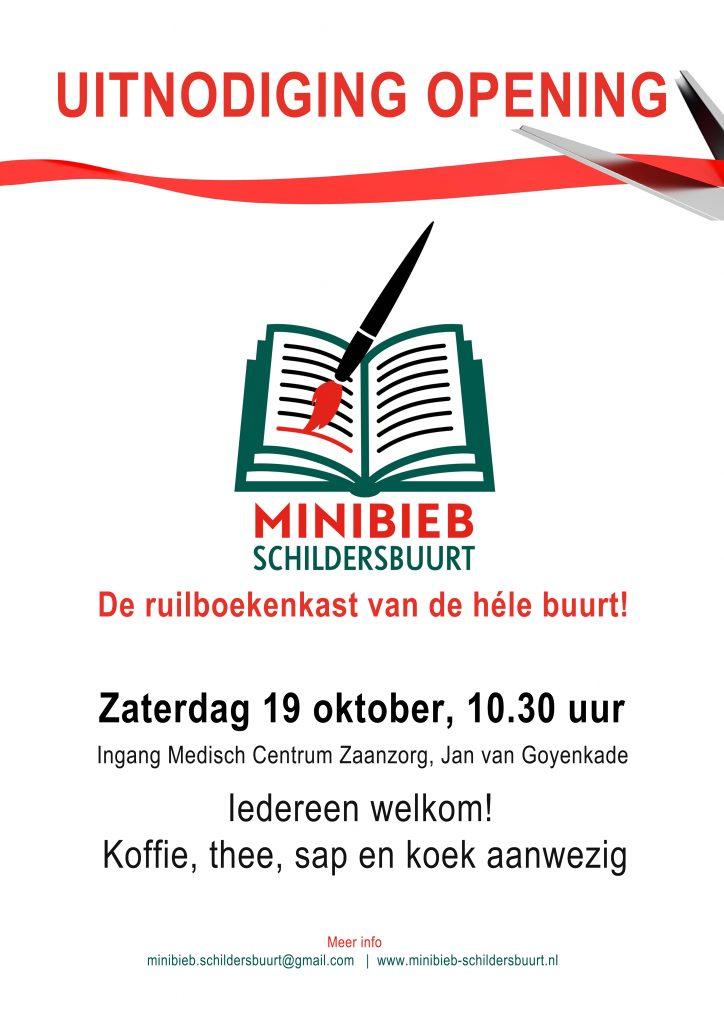 Minibieb schildersbuurt opening 19 oktober
